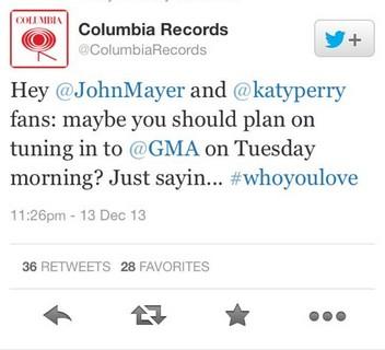 WYL Columbia Tweet